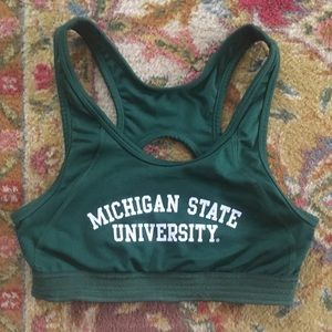 Michigan State sports bra good pre-loved condition